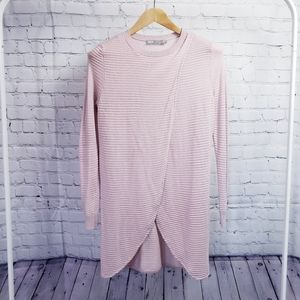 Asos Pink Long Tunic Sweater US 2/UK 6 Small Boho